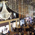 The Grafton Street Christmas lights mark the start of the festive season. Photo Mark Stedman/Photocall Ireland