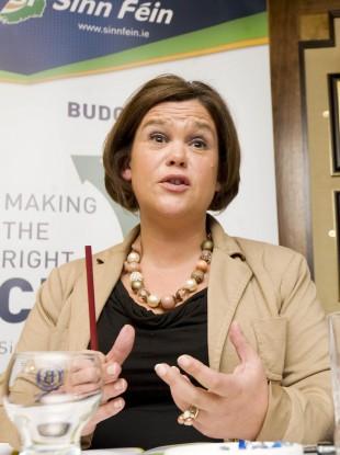 Sinn Fein's Mary Lou McDonald