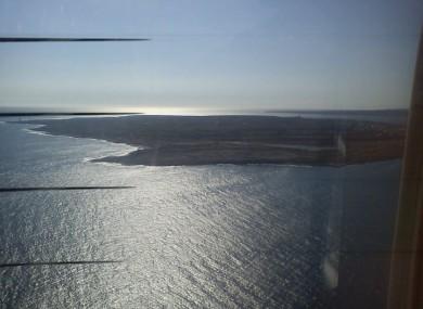 A view from an Aer Arann flight to the islands.