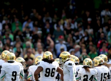 Around two-thirds of the 50,000 people who attended the Notre Dame v Navy game in Dublin were thought to have travelled from the US to watch it.