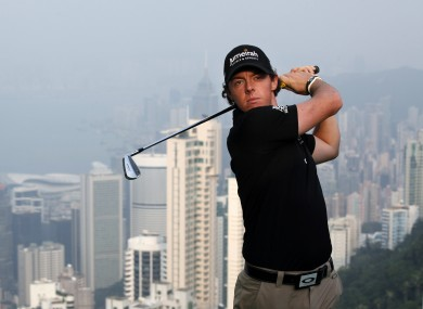 McIlroy in Hong Kong today.