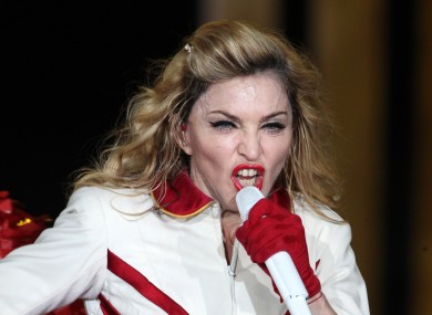 THIS IS THE FACE THAT MADONNA MAY MAKE AT YOU