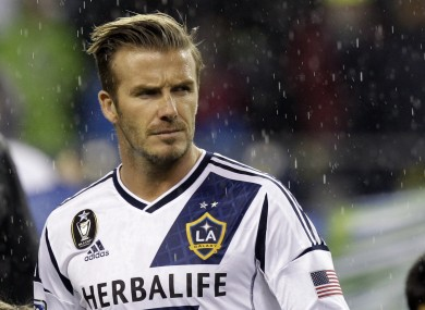 Beckham's last game for LA Galaxy will be when the Major League Soccer club hosts Houston in the league championship early next month.