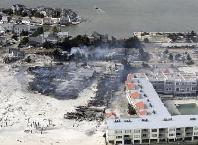 Superstorm Sandy battered the New York coastline, including here at Jersey Shore.