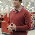 Gregg Steinhafel, Target CEO, gets ready for the Black Friday store opening on Thursday in Bloomington, Minnesota. (Janet Hostetter/AP images for Target)