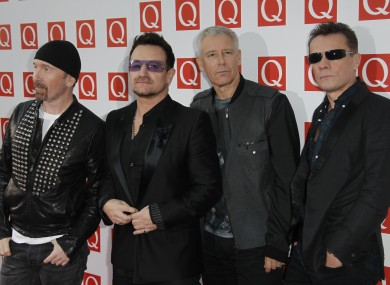 U2 were the fourth highest paid musicians in 2012.