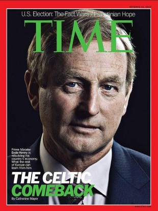 Enda Kenny on the cover of TIME magazine in October