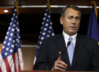 House Speaker Rep. John Boehner speaks about the fiscal cliff in Washington yesterday.