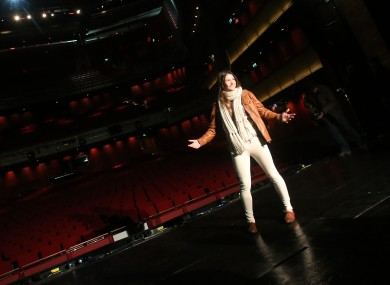 Katie Taylor at the Grand Canal Theatre, where she'll fight in the new year.