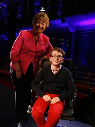 Nora Owen and winner Jack Meenan