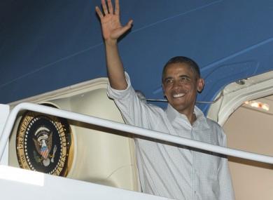 Obama departs from Hawaii last night, bound for Washington
