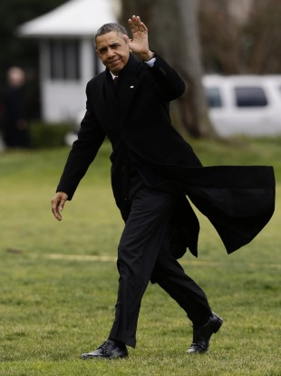 Obama arriving back at the White House from his Christmas break in Hawaii yesterday.
