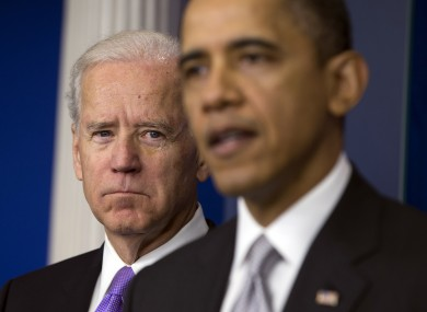 Vice President Joe Biden and President Barack Obama at a news conference earlier.