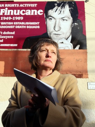 Geraldine Finucane, wife of murdered Belfast solicitor Pat Finucane.