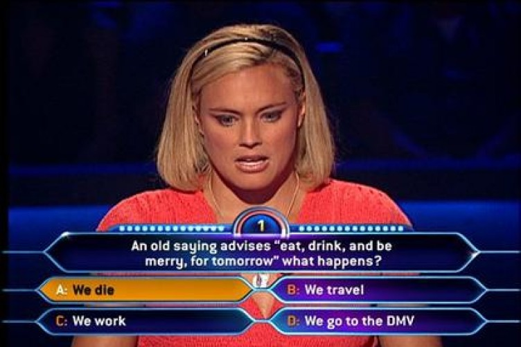 First question wrong who wants to be a millionaire uk — photo 1