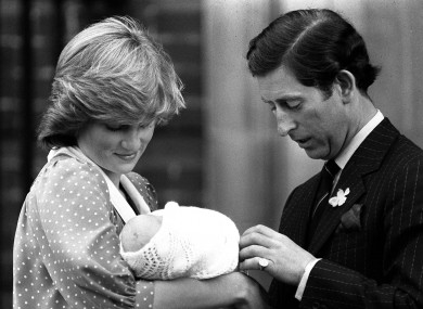 File photo dated 22/06/1982 of of the Prince and Princess of Wales showing off their son, Prince William, to the media for the first time.