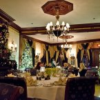 But Hottelet and his family ate in the Main Dining Room. The interior in here is much more formal, and is meant to look like early-19th Century restaurants. (Pete Hottelet/Flickr)