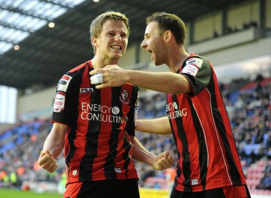 Eunan O'Kane: the Derry lad gave Wigan a scare at the DW Stadium.