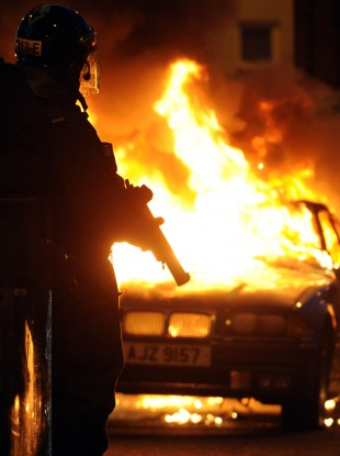 Protests related to the Union flag issue have descended into violence on numerous occasions (file photo).