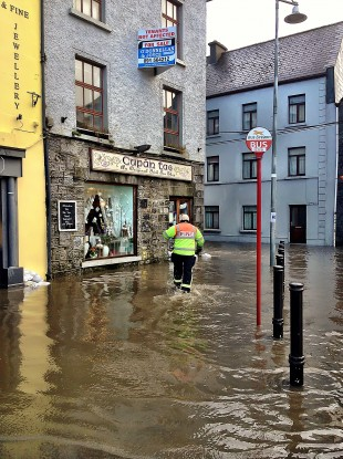 The Latin Quarter in Galway, as seen at 11:40am this morning.