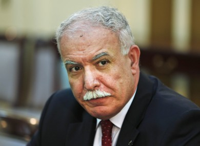 Palestinian foreign minister Riyad Al-Malki says he has raised his administration's financial shortage with the Arab League.