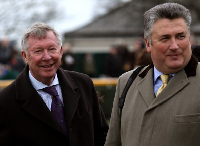 Alex Ferguson and  trainer Paul Nicholls.