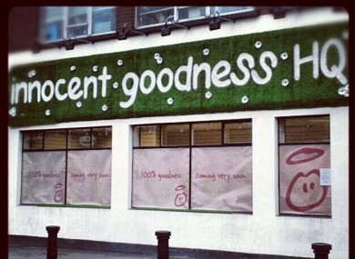The Innocent Goodness HQ on Dublin's Chatham Street, which opens tomorrow.