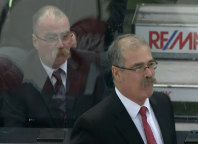 Paul MacLean (front) and his lookalike.