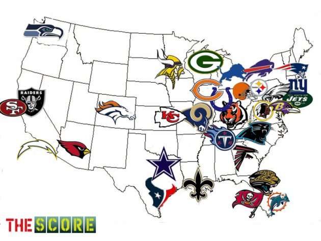 NFL Football Puzzles Puzzle Warehouse Blog For Jigsaw Puzzle Fans - 1994 us population changes map dollar and reichard