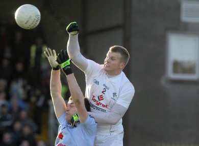 Kildare's Peter Kelly and Dublin's Paddy Andrews in action in last year's O'Byrne Cup.