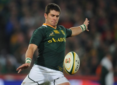 Morne Steyn has been capped 42 times by the 'Boks.