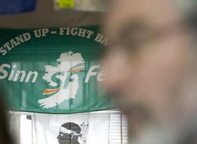 Sinn Fein Party President, Gerry Adams.