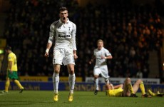 VIDEO: Gareth Bale dribbles from his own half to equalise for Spurs