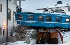 Sweden: Stolen train leaves tracks before crashing into three-storey building