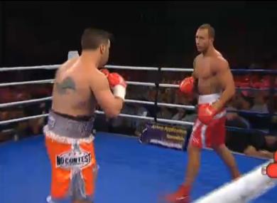 Quade Cooper sizes up his opponent.