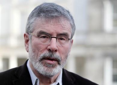 Sinn Féin President Gerry Adams TD (file photo)