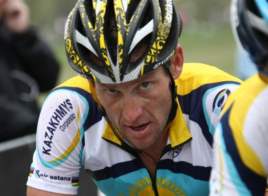 Under pressure: Lance Armstrong.