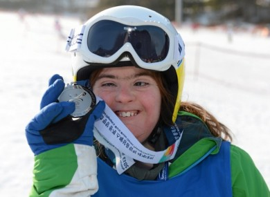 Katherine Daly, from Dalkey, who won a Silver medal in the novice grade super G.