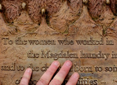 A plaque dedicated to Magdalene Laundry survivors in Stephen's Green in Dublin