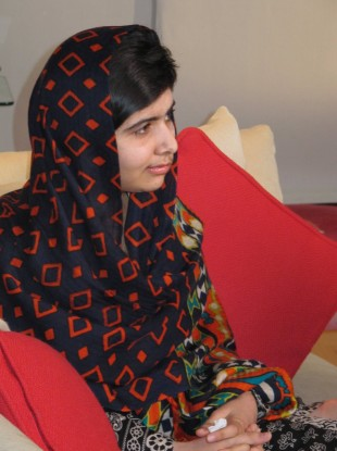A photograph of Malala released today