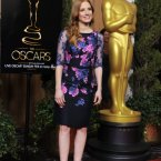 More purple lacey stuff from Jessica Chastain.  A little bit