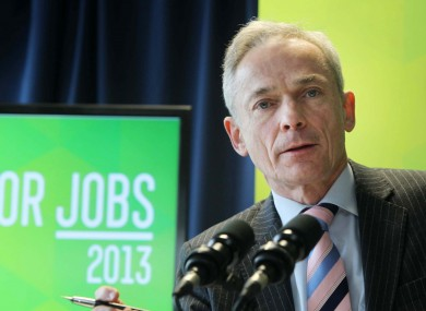 Minister for Jobs Richard Bruton at the publication of Action Plan for Jobs 2013 (file photo).