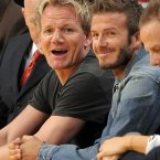GORDON RAMSAY AND DAVID BECKHAM: These two have been friends for years and Gordon credits David (and Victoria) with being