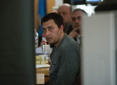 Deyan Valentinov attends his trial at a court in Santa Cruz de Tenerife in the Canary Islands today