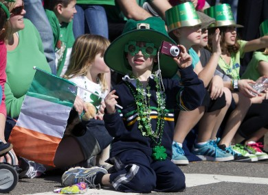 Rory Zampese, 5, watches the annual St. Patrick's Day Parade in Boston last year.