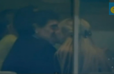 VIDEO: Diego Maradona is at Old Trafford tonight – and he's having a pretty good time