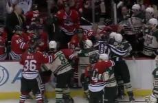 VIDEO: Huge brawl erupts between minor league hockey teams