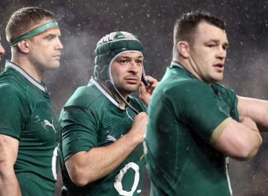 Rory Best adjusts his headgear at the weekend.