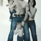 'We're having a family portrait taken.  Yes, we're calling it JUST JEANS.'
