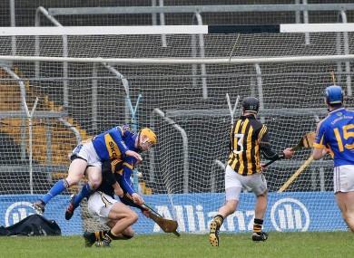 Lar Corbett strikes to the net for Tipperary.
